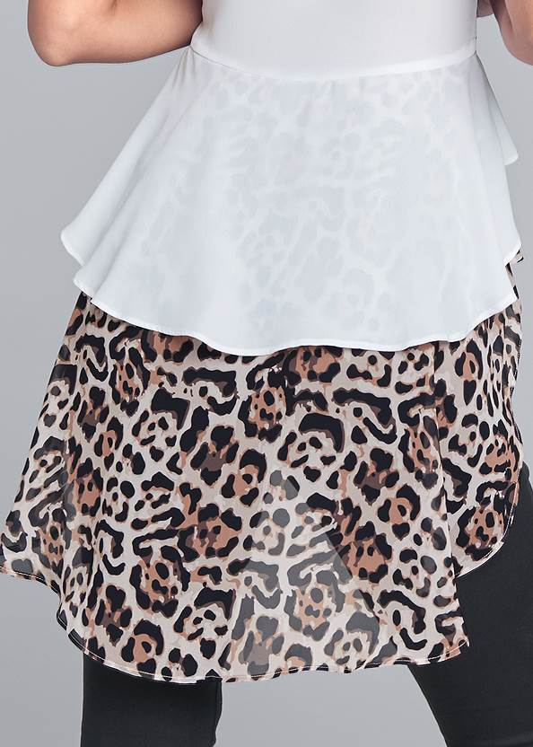Alternate View Leopard High Low Blouse