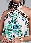 Alternate View Palm Leopard Print Dress