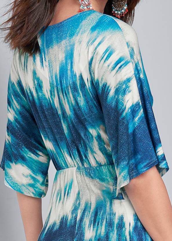 Alternate View Tie Dye Kimono Maxi Dress