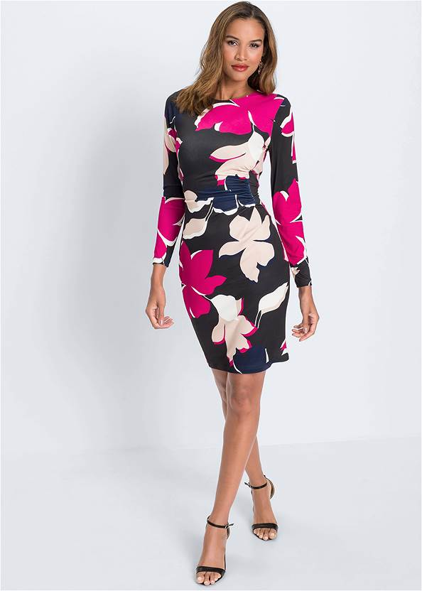 Full front view Floral Printed Dress