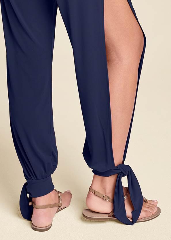Detail back view Slit Leg Casual Jumpsuit
