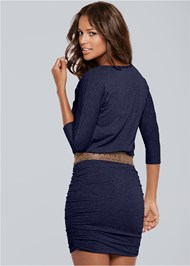 Back View Ruched Detail Dress