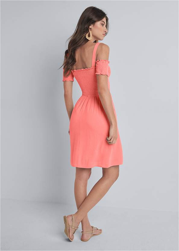 Alternate View Smocked A-Line Mini Dress