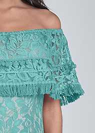 Alternate View Off Shoulder Lace Maxi Dress