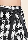 Detail front view Tweed Skort With Belt