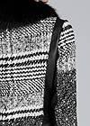 Detail back view Patchwork Plaid Print Coat