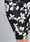 Detail front view Floral Mock Neck Midi Dress