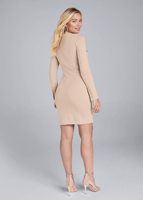 Full back view Zip Up Midi Dress