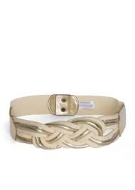 Front View Braided Rope Waist Belt