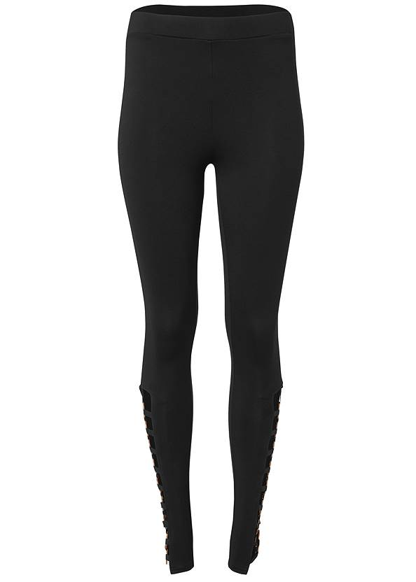 Ghost with background  view Ring Detail Leggings