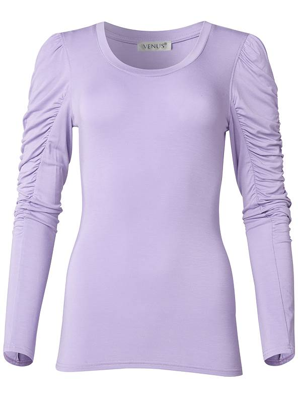 Ghost with background  view Ruched Sleeve Top