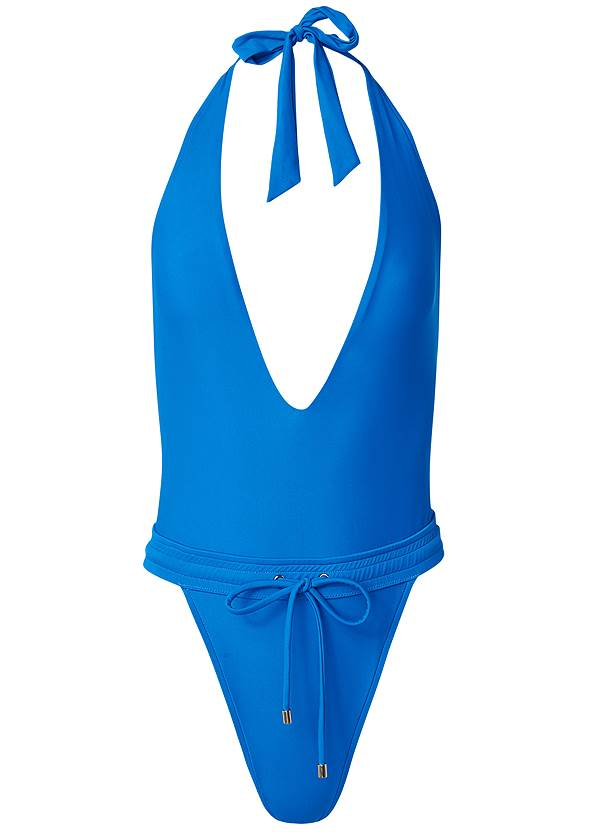 Ghost with background  view Sporty Waistband One-Piece