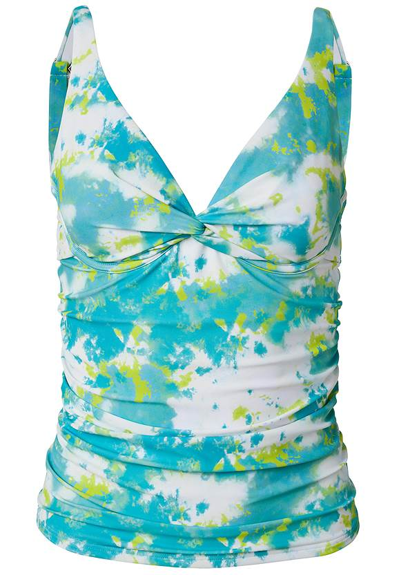 Ghost with background  view Underwire Twist Tankini Top