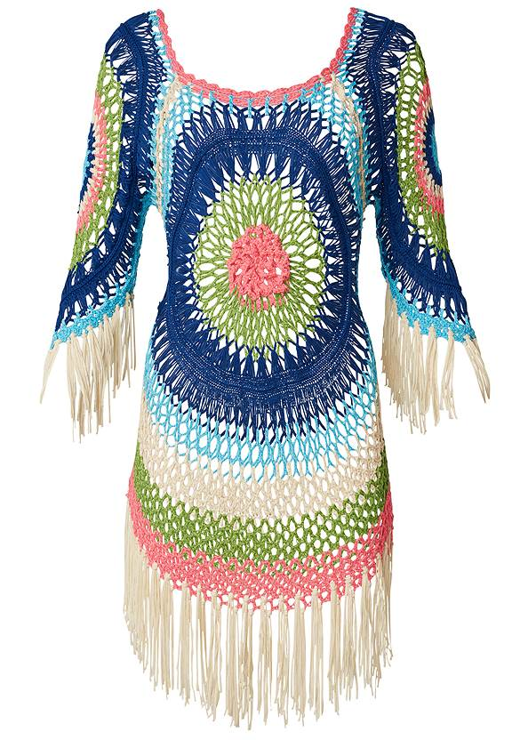 Ghost with background  view Crochet Detail Coverup