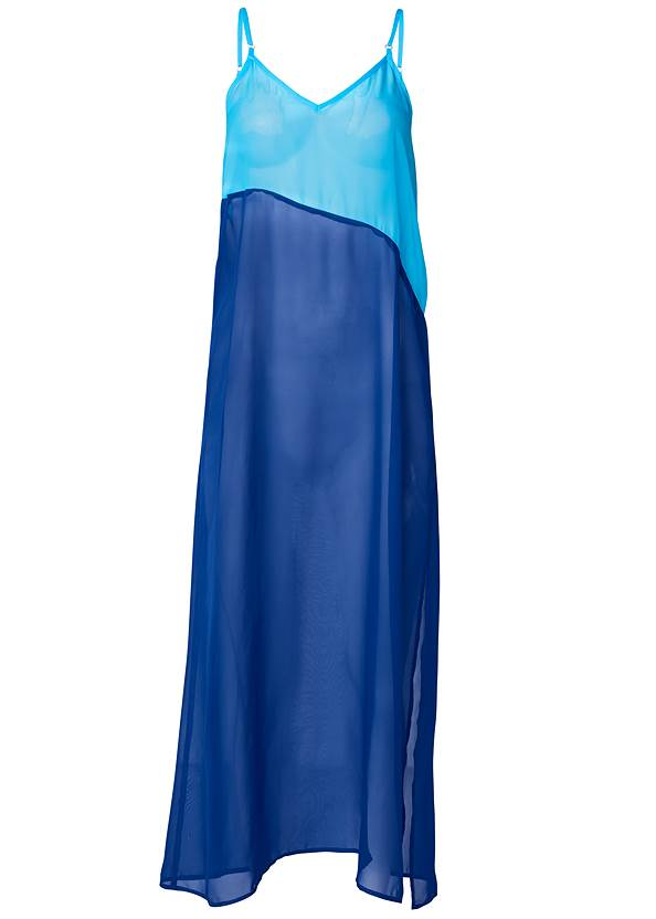 Ghost with background  view Color Block Maxi Dress Cover-Up