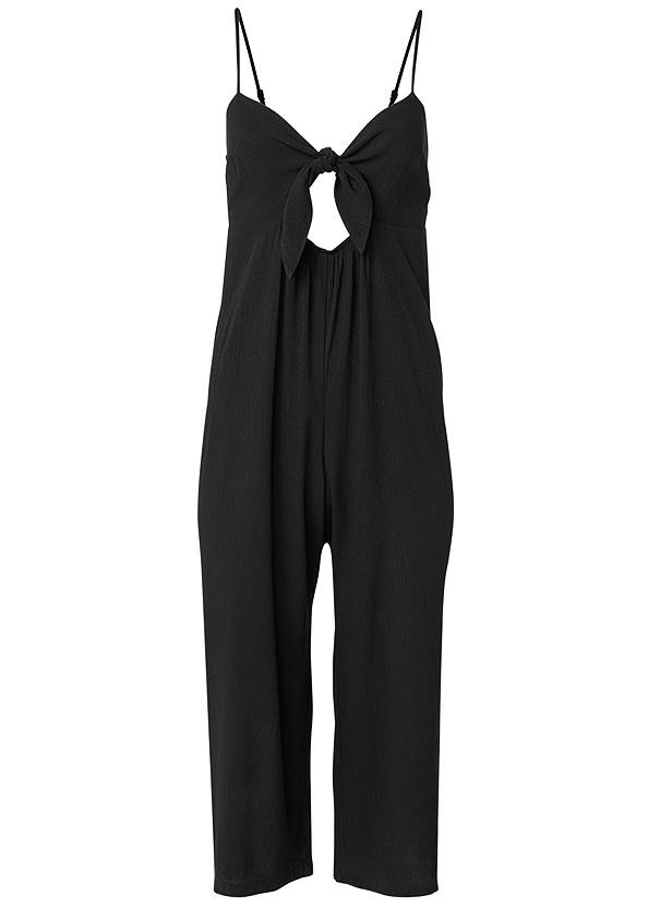 Ghost with background  view Keyhole Front Jumpsuit