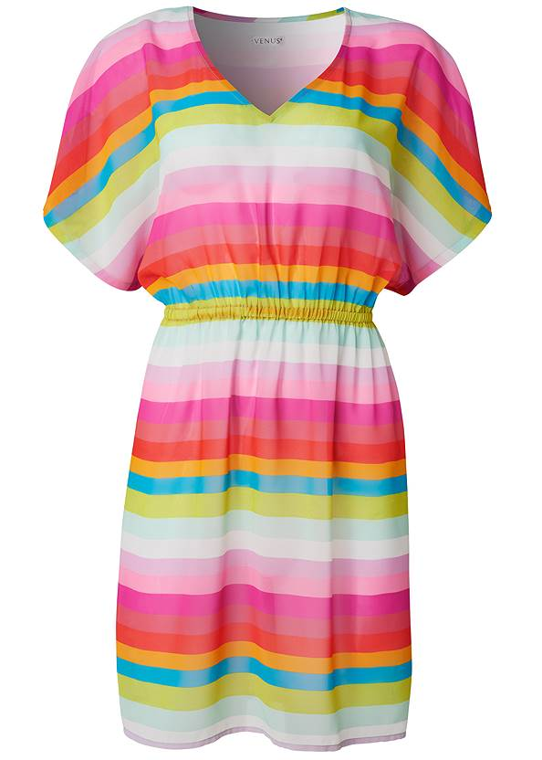 Ghost with background  view Printed Kaftan Cover-Up