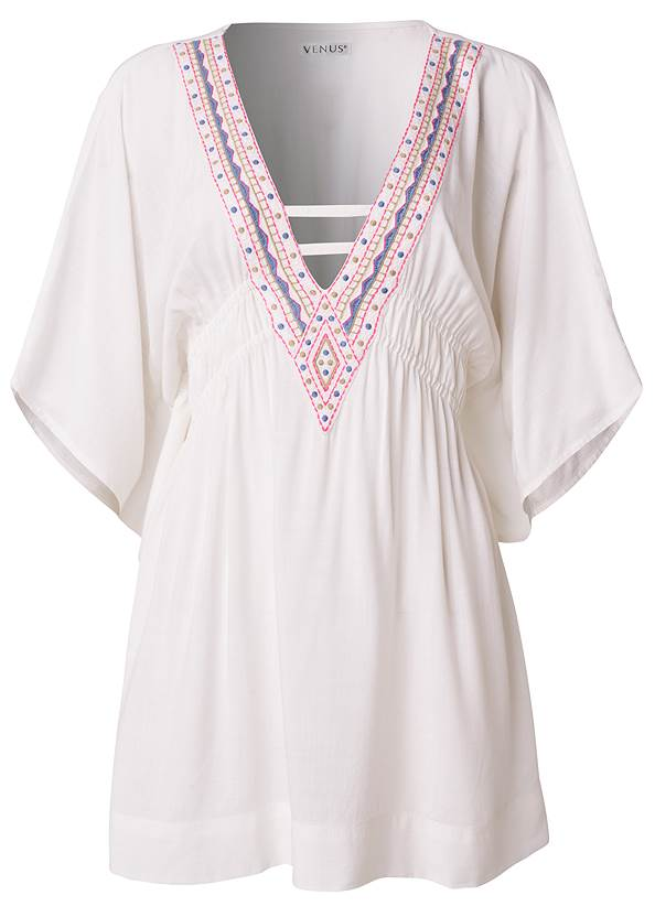 Ghost with background  view Embroidered Kaftan
