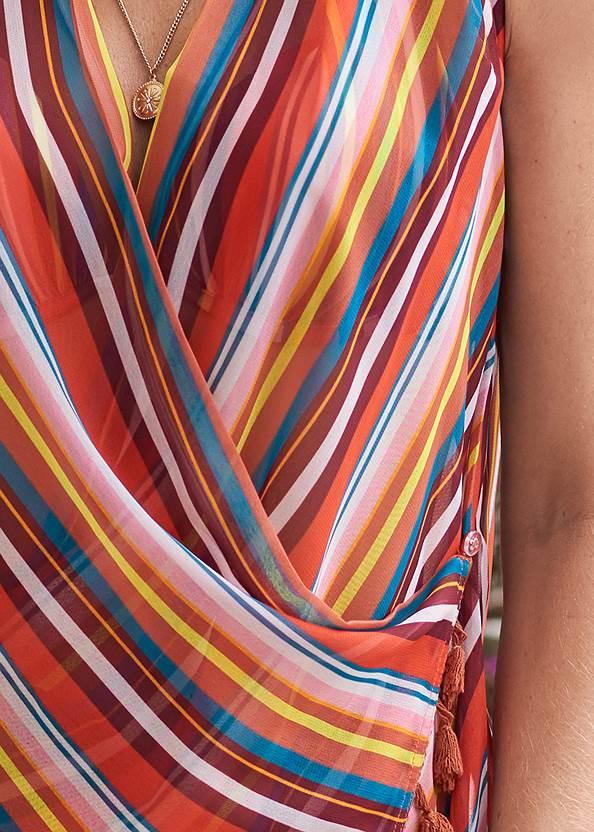 Detail front view Wrap Kimono Cover-Up
