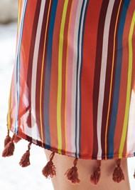Detail back view Wrap Kimono Cover-Up