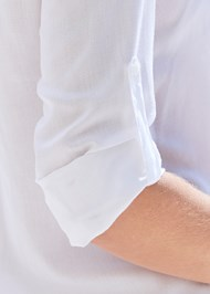 Detail front view Sheer Tunic Cover-Up