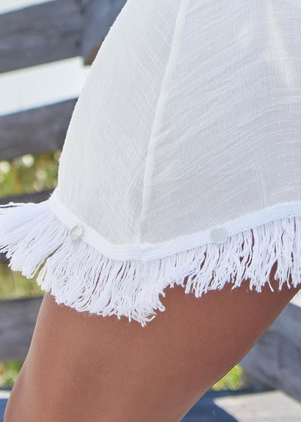Detail back view Crochet Cover-Up Dress
