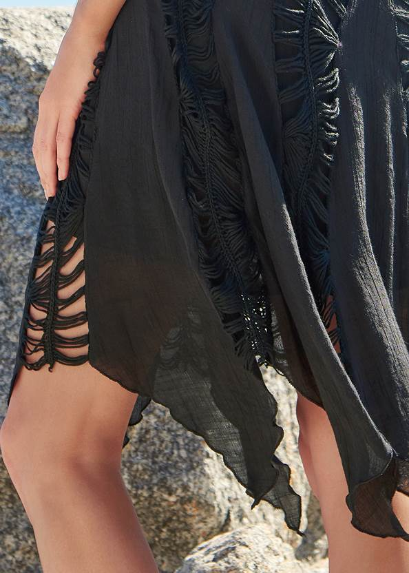 Alternate View Convertible Fringe Coverup