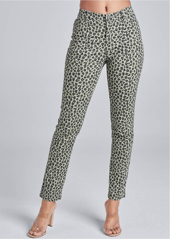Alternate View Leopard Jeans