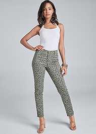 Front View Leopard Jeans