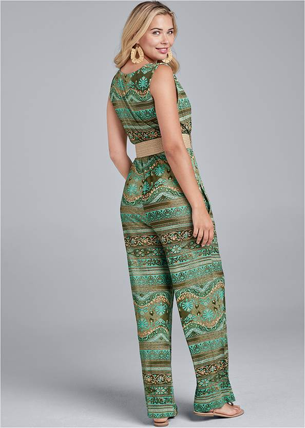 Back View Printed Jumpsuit