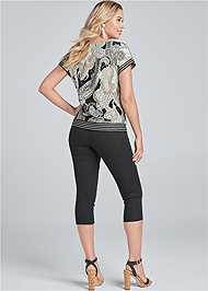 Back View Side Tie Paisley Top