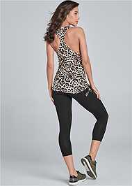 Full back view Drawstring Side Tie Top