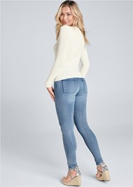 Full back view Open Front Sweater