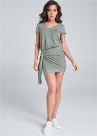 Full front view Lounge Wrap Dress