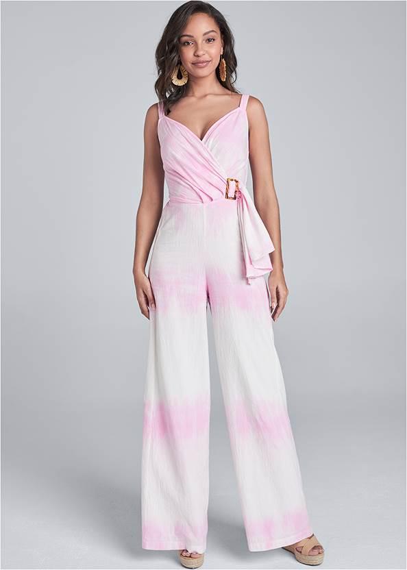 Alternate View Tie Dye Linen Jumpsuit