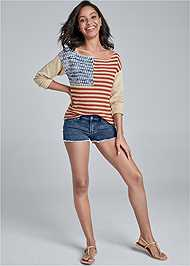 Full Front View Americana Sweater