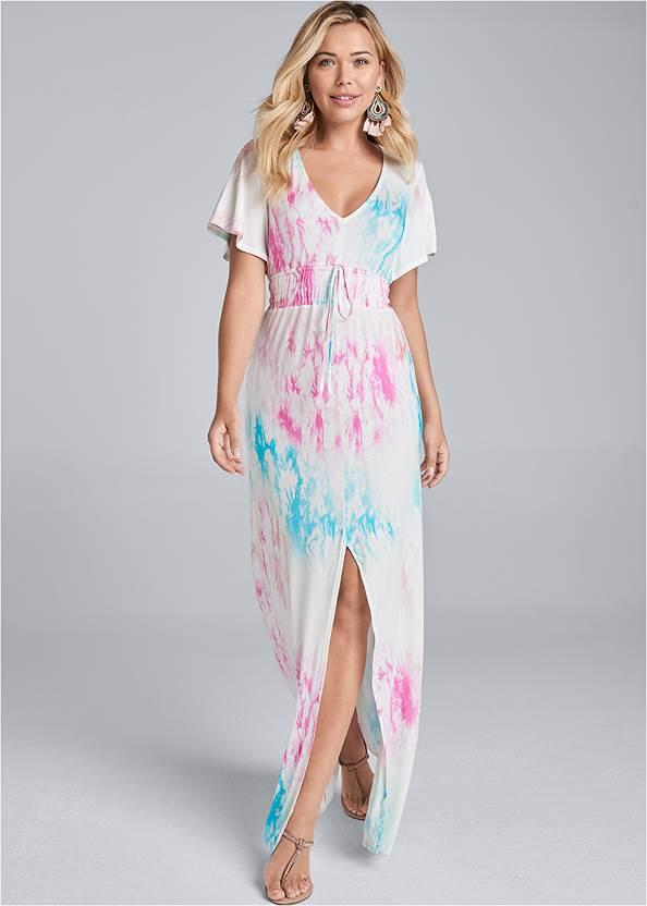 Tie Dye Kimono Sleeve Dress