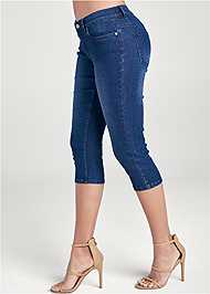 Alternate View Color Capri Jeans