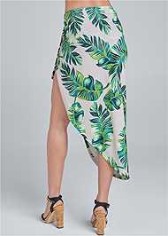 Waist down back view Palm Leopard Print Skirt