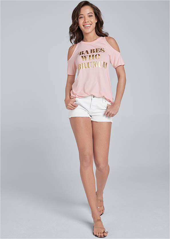 Full front view Babes Who Brunch Tee
