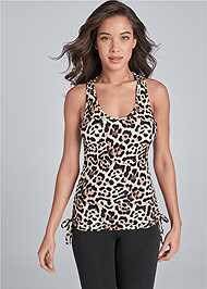 Cropped Front View Drawstring Side Tie Top