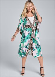 Full front view Palm Print Duster