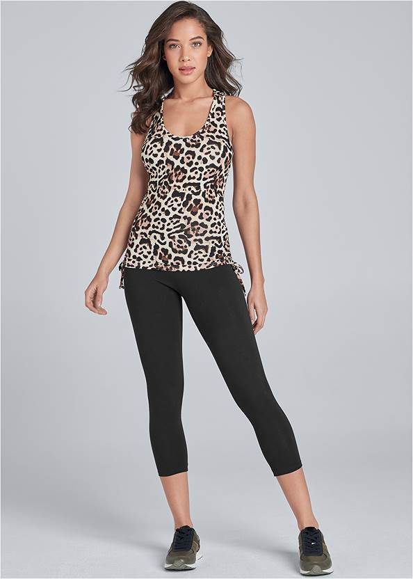Full front view Drawstring Side Tie Top