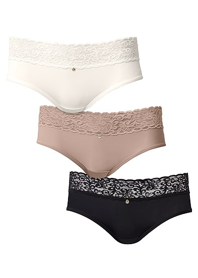 Pearl™ By Venus Lace Trim Hipster 3 Pack