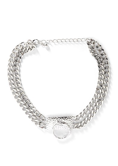 Chain Ring Choker Necklace