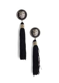 Flatshot  view Lion Tassel Earrings