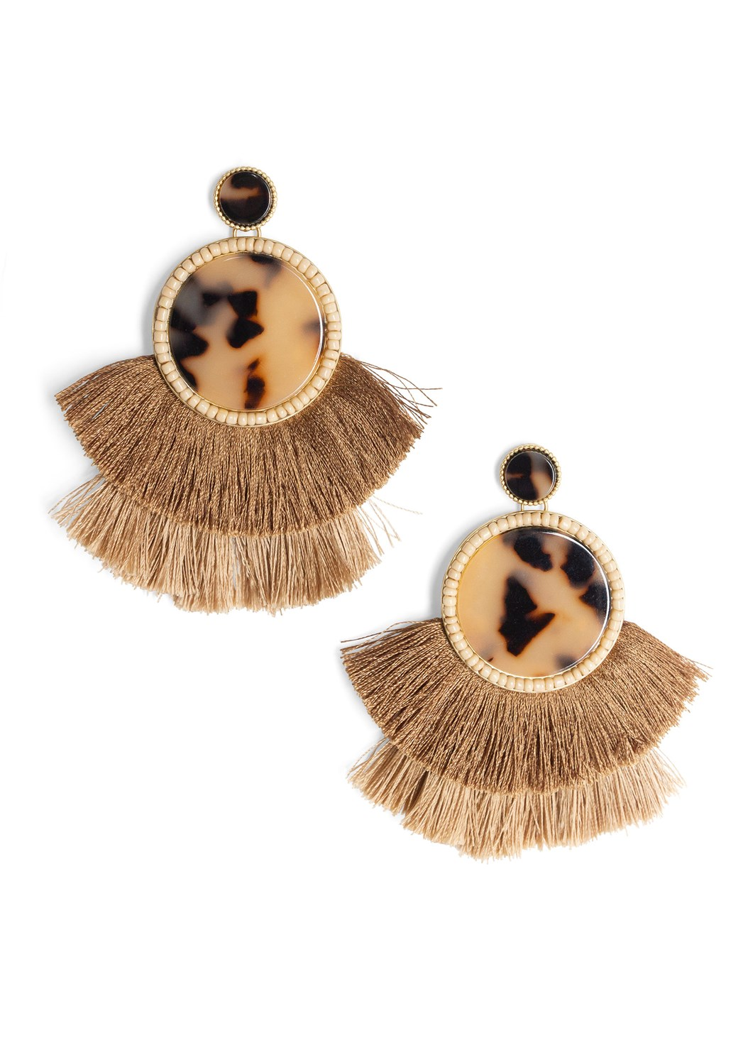 Tortoise Fringe Earrings