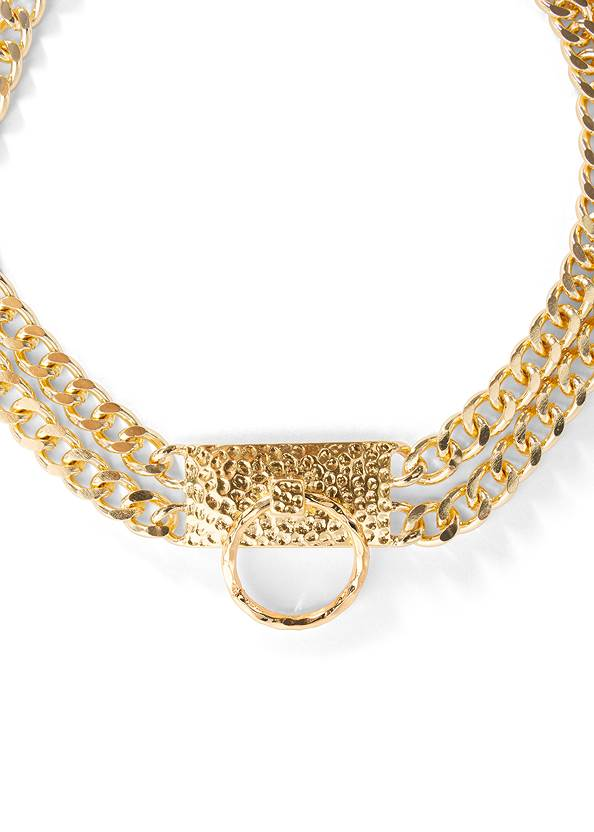 Alternate View Chain Ring Choker Necklace
