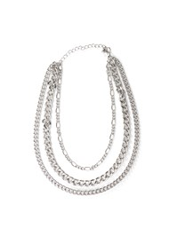 Flatshot  view Chunky Chain Layer Necklace