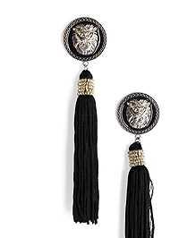 Alternate View Lion Tassel Earrings